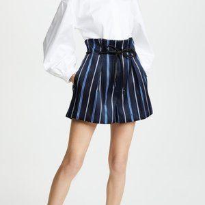 3.1 Phillip Lim Striped Origami Paperbag Shorts